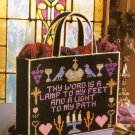 X786 Plastic Canvas PATTERN ONLY Sacred Words Tote Satchel Bag Pattern