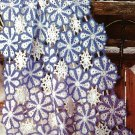 X908 Crochet PATTERN ONLY Lacy Snowflake Afghan
