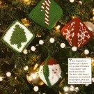 Y569 Crochet PATTERN ONLY 4 Festive Christmas Sachets Santa Snowflake Tree