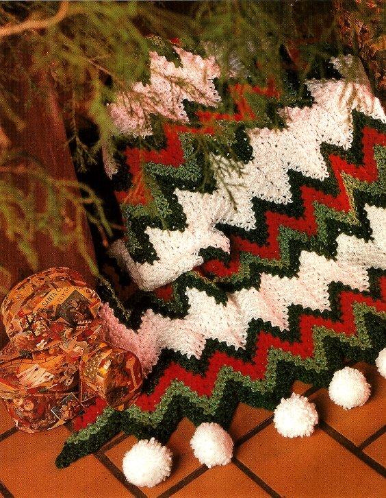 Y709 Crochet PATTERN ONLY 2 Afghans - Zig Zag Lush Snowballs & Cradled Bobbles