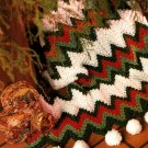 Y709 Crochet PATTERN ONLY 2 Afghans - Zig Zag Lush Snowballs & Cradled Bobbles