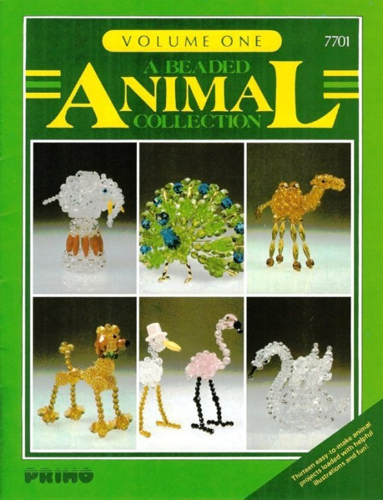 X345 Bead PATTERN ONLY Beaded Animal Collection Christmas Ornament Volume One