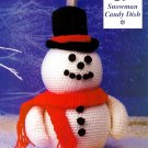 Y046 Crochet PATTERN ONLY Snowman Candy Dish Christmas Decor