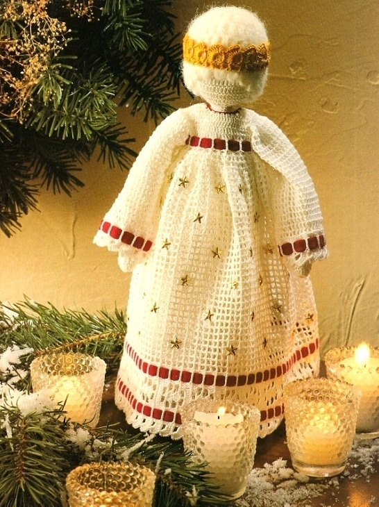 X187 Crochet PATTERN ONLY Soft Sculpture Snow Queen Christmas Doll Pattern