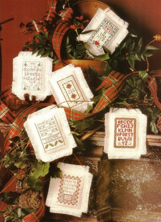 Y068 Cross Stitch PATTERN ONLY Petite Samplers Christmas Ornament Charts