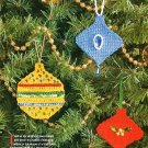 X922 Crochet PATTERN ONLY Flat Christmas Ornament Shapes for Tree or Gift Tags