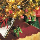 X195 Crochet PATTERN ONLY Timeless Tree Skirt and Stocking Pattern Christmas