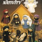 X747 Knit PATTERN ONLY Nativity Pattern 9 Figures Christmas Ornaments