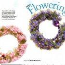 Y637 Bead PATTERN ONLY Beaded Flowering Fringe Bracelet Pattern