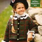 X077 Crochet PATTERN ONLY Holiday Highlander Sweater and Rosette Pattern Child