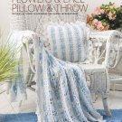 W005 Crochet PATTERN ONLY Flowers & Lace Pillow & Throw Patterns + Bonus!