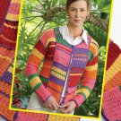 Y597 Crochet PATTERN ONLY Crochet Colorful Carnival Ladies Jacket Pattern