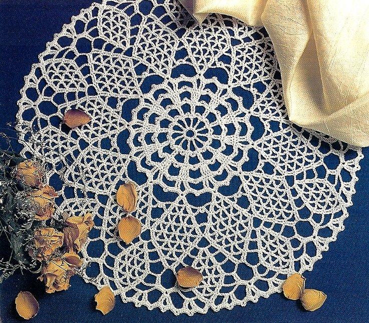 X365 Crochet PATTERN ONLY Diamond Lattice Lace Doily Pattern & Bonus