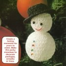 Y510 Crochet PATTERN ONLY Perky Little Snowman Christmas Ornament Pattern