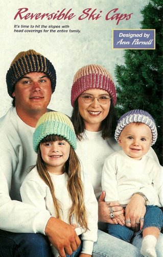 Y781 Crochet PATTERN ONLY Reversible Ski Caps for the Entire Family Pattern
