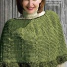 Y831 Crochet PATTERN ONLY Graduating Shells Poncho Pattern