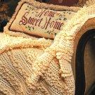 X813 Crochet PATTERN ONLY Winter White Afghan plus Hat & Scarf Pattern