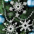 Y898 Crochet PATTERN ONLY 3 More Crochet Snowflake Christmas Ornament Patterns