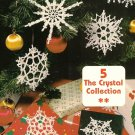 X497 Crochet PATTERN ONLY Crystal Collection of 5 Snowflake Pattern