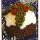 Y251 Crochet PATTERN ONLY Christmas Pudding Ornament Pattern