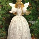 X482 Crochet PATTERN ONLY Victorian Crochet Christmas Angel Barbie Fashion Doll