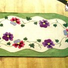 Y945 Embroidery PATTERN ONLY Sweet Spring Pansy Floral Table Runner Pattern