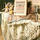 Y848 Crochet PATTERN ONLY Diamonds and Lace Frilly Afghan Throw Pattern