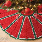 Y912 Crochet PATTERN ONLY Traditional Holiday Color Christmas Tree Skirt Pattern