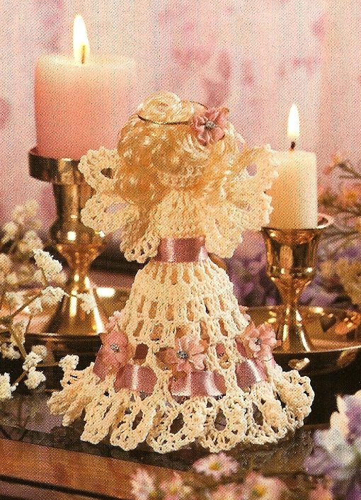 X565 Crochet PATTERN ONLY Little Angel Christmas Ornament Pattern