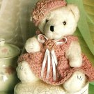 Y310 Crochet PATTERN ONLY Victorian Rose Teddy Bear Doll Toy Pattern