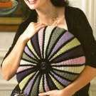 Y245 Crochet PATTERN ONLY Color Wheel Pillow Pattern