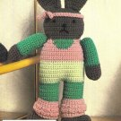 X480 Crochet PATTERN ONLY Aerobic Rabbit Doll Toy Pattern