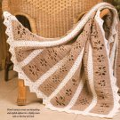 W352 Filet Crochet PATTERN ONLY Floral Filet Afghan Throw Pattern