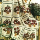 Y089 Crochet PATTERN ONLY Potted Mums Afghan Pattern