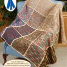 W240 Crochet PATTERN ONLY Ombre Mosaic Afghan Pattern