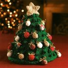 Y722 Crochet PATTERN ONLY Christmas Tree Table Topper Pattern