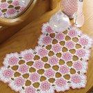 W147 Crochet PATTERN ONLY Floral Heart Doily Pattern