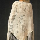 Y019 Crochet PATTERN ONLY Blessed Mother Prayer Shawl
