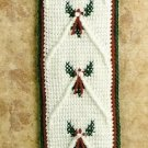 Y448 Crochet PATTERN ONLY Christmas Holly Bell Pull Pattern