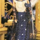 X406 Crochet PATTERN ONLY Starry Nights Evening Gown Dress Mask Fashion Doll Bar