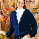 X247 Crochet PATTERN ONLY Cardigan with Wooden Buttons Pattern