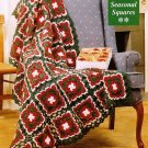 Y646 Crochet PATTERN ONLY Lacy Seasonal Granny Squares Afghan Pattern