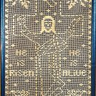 X906 Filet Crochet PATTERN ONLY He Is Risen Easter Cross Wall Hanging Jesus