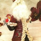 Y012 Crochet PATTERN ONLY Antique Look Santa Doll Christmas Ornament
