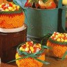 Y076 Crochet PATTERN ONLY Pumpkin Candy Basket Halloween Fall