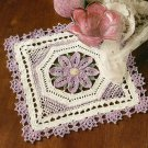 Y258 Crochet PATTERN ONLY Lovely Square Floral Doily Pattern
