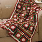 X508 Crochet PATTERN ONLY Snowflakes & Ribbons Afghan Throw Patterns