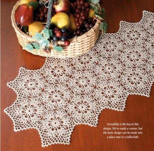 X827 Crochet PATTERN ONLY Harvest Motif Table Runner Pattern