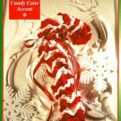 X919 Crochet PATTERN ONLY Candy-Cane Christmas Ornaments
