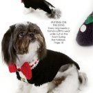 X064 Crochet PATTERN ONLY Dog Tuxedo Slippers and Glamorous Glove Topper Pattern